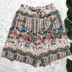 Vintage Floral Flowy Shorts.